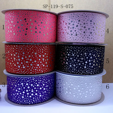 Free shipping 50 yard 75 mm foil ribbon character printed grosgrain ribbon SP119S-075