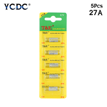 5 PCS/LOT 12V ALKALINE BATTERIES 27A VR27 R27A FOR REMOTE ALARMS FANS CLOCKS G27A MN27 MS27 GP27A A27
