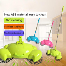 Household cleaning 360 Rotary Home Use Crab Manual Telescopic Floor Dust Sweeper floor sweeping mop 2017 new sale(China)