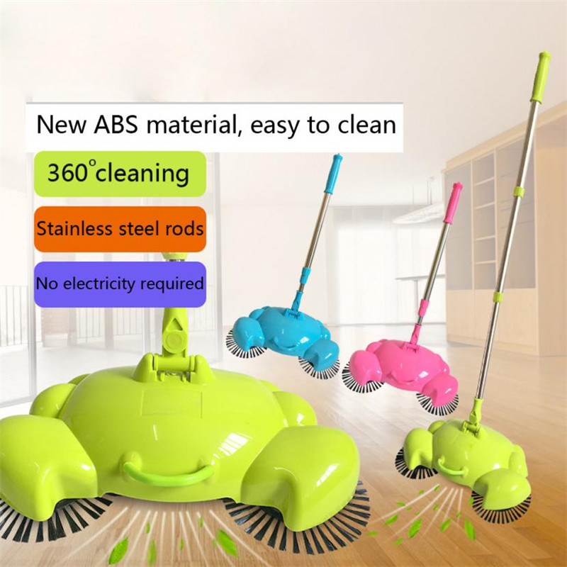 Household cleaning 360 Rotary Home Use Crab Manual Telescopic Floor Dust Sweeper floor sweeping mop 2017 new sale(China (Mainland))