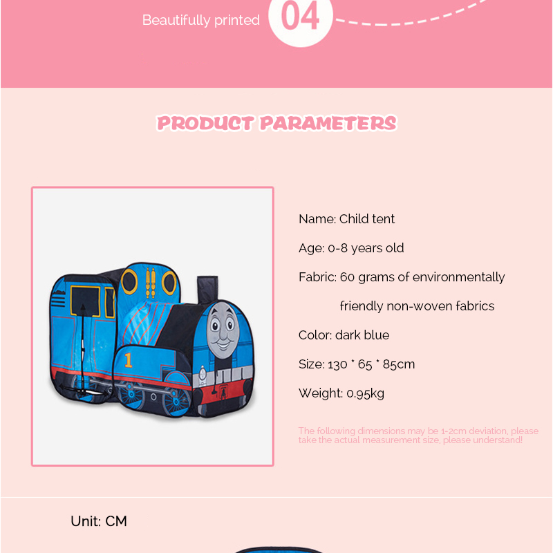 HTB11bewRFXXXXcBXpXXq6xXFXXXw - The Train Play Vehicle Toy Tent For Children Pop Up Playhouse Kids Game House Child Baby Portable and inflatable Tents