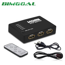 Buy Mini 2.5Gbps/250MHz IR Remote 5 Port HDMI Switch 5-in-1 5*1 Switcher HDMI Splitter HDMI Port HDTV 1080P Vedio for $11.76 in AliExpress store