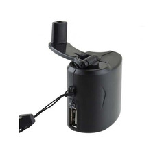 Hand Power Dynamo Hand Crank USB Mobile Phone Cell Phone Charger Mini Emergency For MP3 MP4 Player Hand Crank Generator Black
