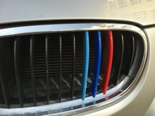 3D Car Grille Sport Stripe ABS Decal Sticker for 2003-2012 BMW 3 Series E90