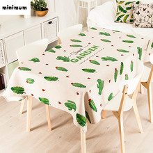 Succulents cactus pattern garden Cover towel tablecloth Square round tablecloth Thicker design Coffee table tablecloth