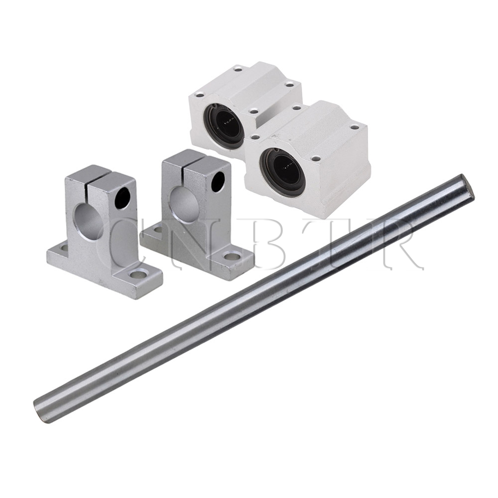 CNBTR OD12 x 200mm Shaft Optical Axis&amp; Ball Slide Rail Support with Bearing<br><br>Aliexpress
