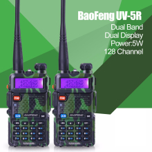 2pcs Promotion Camouflage BAOFENG UV-5R Walkie Talkie Dual Band Radio 136-174Mhz &400-520Mhz Baofeng UV5R handheld Two Way Radio(China)