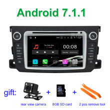 2 GB RAM Android 7.1.1 Car DVD Player for Mercedes/Benz Smart Fortwo 2012 2013 2014 with WiFi Radio GPS