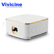 Vivicine New 50 ANSI Lumens Android 5.1 Wifi Mini LED Projector , Miracast Airplay DLNA Handheld Mobile Proyector Beamer(China)