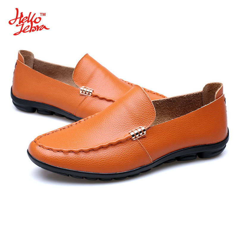 Hellozebra Men Casual Shoes Fashion Single Leather Casual Shoe Balance Buckle Lazy Peas Mesh Student Shoe 2016 Autumn New Design<br>