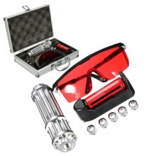 650nm 200mW Laser Pointer Red Light Beam Adjustable Focusing Laser Pen with 18650 Battery Charger 5 Caps Portable Box Set