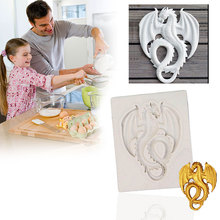 Silicone Cake Mold Dragon Shape Sugarcoat Fondant Decorating Baking Tool Kitchen Accessories Supplies