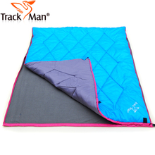 Trackman On sale 2 person couple spring autumn lunch breack picnic park cotton fleece hiking outdoor camping sleeping bag pad