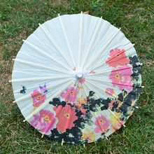 Handmade oilpaper craft mini umbrella diameter 40cm / Kids stage performance roof Ceiling decoration / Chinese flower painted