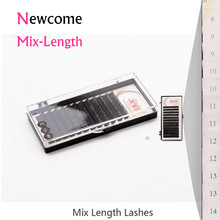 All Size Mix-Length Eyelash Extensions Korean Silk Mink Lahes C/D False Eye Lash for Professional Makeup Tools(China)