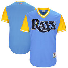 MLB Men's Tampa Bay Rays Baseball Light Blue 2017 Players Weekend Authentic Team Jersey(China)