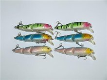 6 x Premium Quality JOINTED BIB MINNOW SWIMBAIT LURES In 3 Colours Special Offer For Your Fishing Needs With Free Postage(China)