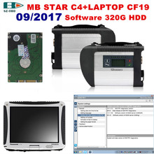 2017 For Mercedes Benz MB STAR C4 OBD2 Scanner SD C4+2017 09 software HDD+toughbook cf-19 car Diagnostic tools DHL Free Shipping(China)