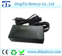 Free shipping 42V 2A lithium ion battery charger 36v li-ion or lipo battery pack charger 2A EU, UK, AU, USA AC input plug