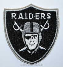 Oakland Raiders logo Sword embroidered Iron on Patch Shirt Bag Cap NFL