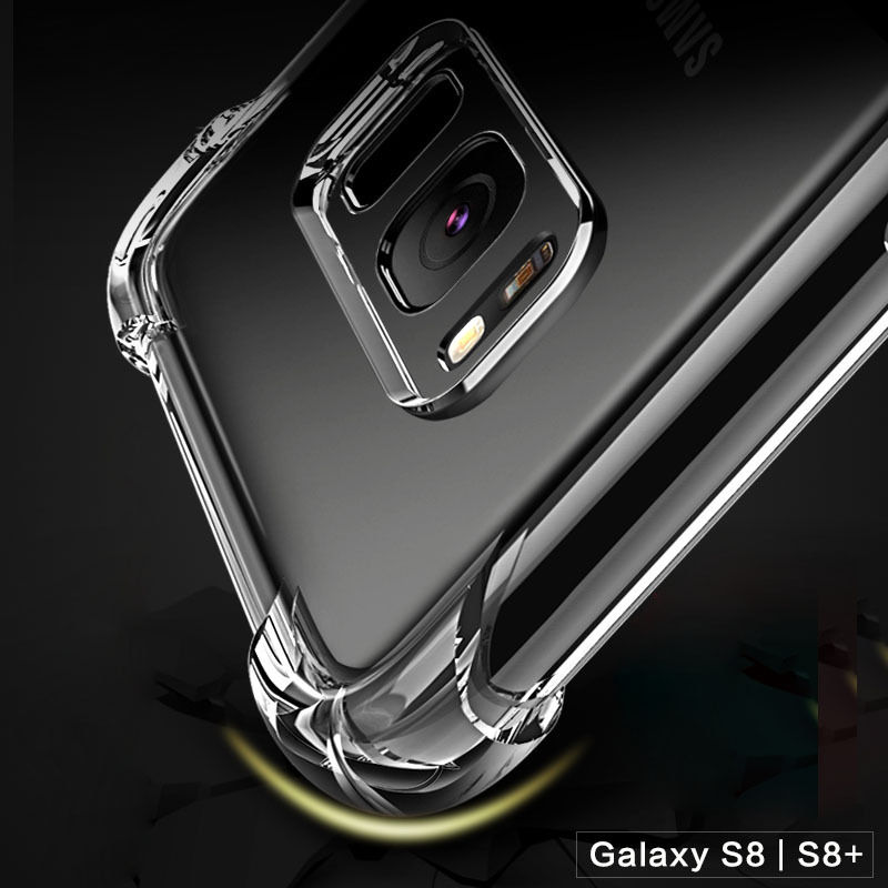 OLLIVAN Shockproof Clear Silicone Case For Samsung Galaxy S6 S7 edge A3 A5 A7 J3 J5 J7 2017 S8 S9 Plus Note 8 9 A6 A8 2018 Cover (6)