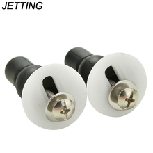 JETTING 1PC Black Toilet Seat Hinge Blind Hole Fixing Fix Well Nuts Screw Rubber