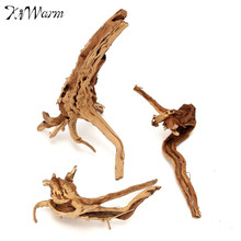 Kiwarm Stylish Aquarium Driftwood Natural Wood Tree Trunk Plant Ornament For Fish Tank Decoration Home Ornament Supply