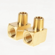 3400 SAE 130239 Metal Brass Fitting, 1/8 1/4 3/8 1/2 3/4 NPT Female and Male Pipe Thread 90 Degree Barstock Street Elbow(China)