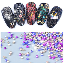 LCJ 5000Pcs/Box Wizard Beads Crystal Sand Nail Rhinestones Tiny Nail Beads Fingernails Rhinestone For Nails Accessories(China)