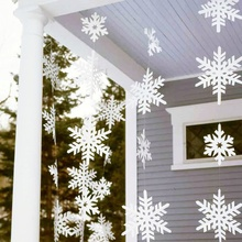 Paper Snowflake Garlands Christmas Decoration Paper Party Supplies Gift Birthday Wedding Home Decor Christmas Trees Ornaments(China)