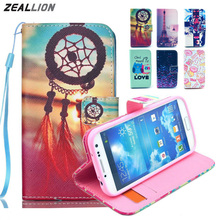 ZEALLION For HTC Desire 500 Flowers cartoon animation animal design Magnetic Holster Flip Leather phone Case Cover