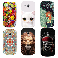 3D Relief Printing Clear Hard PC Case for Samsung Galaxy S3 Mini i8190 Phone Bag Back Cover Shell Coque for Galaxy S3 Mini i8190(China)