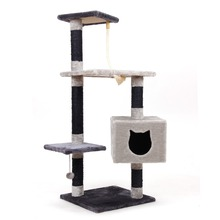 Domestic Delivery Cat Toy Scratching Wood Climbing Tree Ball Toy Cat Jumping Toy Climbing Frame Cat Furniture Scratching Post