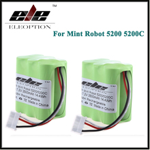 2 PCS Eleoption 7.2V 2500mAh Ni-MH Vacuum Battery For Mint Robot 5200 5200C Floor Cleaner