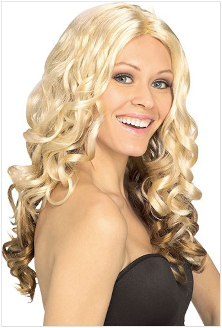 Bwigs Queen Hair 2015 Fashion Long Sexy Style Natural Curly Blonde Wig New Arrival Synthetic Heat Resistant Hair Wig<br><br>Aliexpress