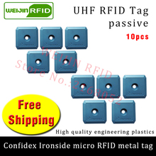 UHF RFID anti metal tag confidex ironside micro 915mhz 868mhz Impinj Monza4QT 10pcs free shipping durable ABS passive RFID tags