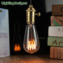 ST64 Edison bulb LED vintage lamp bulb new design soft LED filament 4W 220V E27 base commercial light bulb night lamp bulb