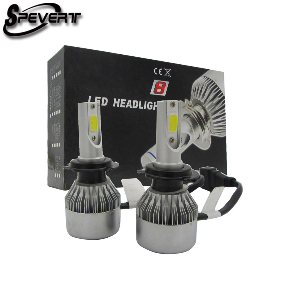SPEVERT Upgraded H1 H4 H7 H11 D1S/D3S D2S/D4S 110W 26000LM 6000K Diamond White Car LED Headlight Kit Replacement Bulbs 12v 24v<br>