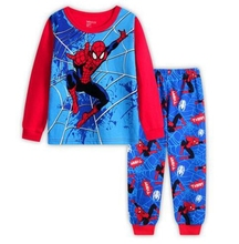 Spiderman Print Full Sleeved Cotton Kids Pijamas Children Sleepwear Pajamas winter clothes Kids boy 2-7 years old