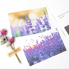 30pcs purple From provence style postcard as invitation Greeting Cards gift cards Christmas postcard & invitation