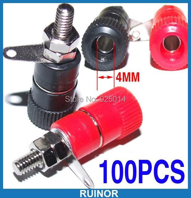 100PCS Binding Post Connector FOR Speaker 4mm Banana Plug Test Probes<br>