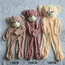 1Pcs 1# 140CM new Plush shell Bear skins empty coat 3COLOR options bear skins with Knit Vest