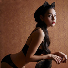 1 Pc Black Lace Cat Ears Headband For Women Girls Hairband  Dance Party Sexy Boutique Hair Hoop Hair Accessories