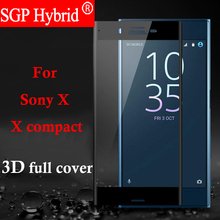 Buy Screen Protector 3D 9H Premium Tempered Glass Sony Xperia X X compact Xcompact 4.6 '' Protector Phone Protective Film Case for $3.49 in AliExpress store