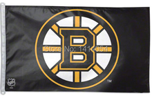 Boston Bruins logo black Flag 150X90CM NHL 3X5FT Banner 100D Polyester custome009, free shipping(China)