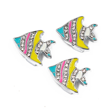 New Arrival Fish Charms 50pcs 10mm Slide Charms Jewelry Making Fit Wristbands Belts Bracelets Key Chain DIY Gifts SL538(China)