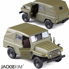 High Simulation New 1:24 Alloy Car Model Military Nostalgic Jeep Acousto-optic Green Car Model Kids Toy Gifts Free Shipping(China)