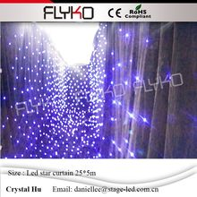 Programmable 5M*25M led star curtain 30 sets of programs shiny led wedding star background decoration wall led star cloth