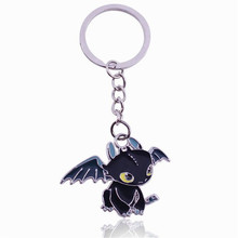 Dreamworks How to Train Your Dragon Night Fury Toothless Figure Key Ring  toys Gifts