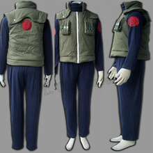 Popular Deluxe Naruto Costume Hatake Kakashi Men's Naruto Cosplay Costume Free Shipping